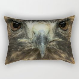 Closeup of the Face of a Red-Tailed Hawk Rectangular Pillow