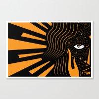 Her Beloved is Radiant Canvas Print