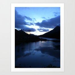 Scottish Highlands: Blues Art Print