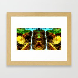 Big waterfall Framed Art Print