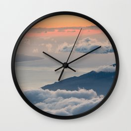 Haleakalā Deep Sunset Wall Clock