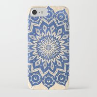 navy iPhone & iPod Cases featuring ókshirahm sky mandala by Peter Patrick Barreda