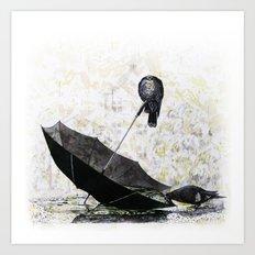 Pigeons Art Print