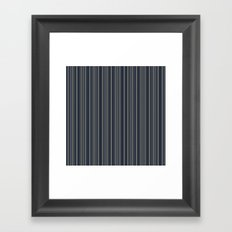 Steel Blue Double Stripes Framed Art Print