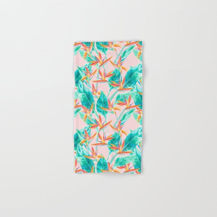 Birds of Paradise Blush Hand & Bath Towel