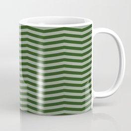 Dark Forest Green Chevron Zigzag Stripes Coffee Mug