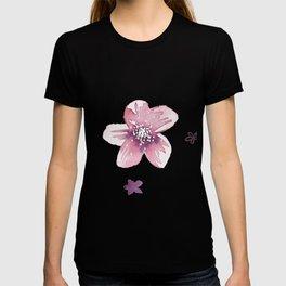 Lilac Pink Watercolour Fiordland Flower T-shirt