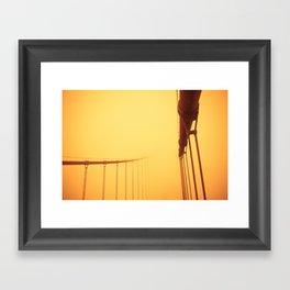 Golden - Golden Gate Bridge Framed Art Print
