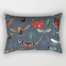Lovely Butterfly Blue Rectangular Pillow
