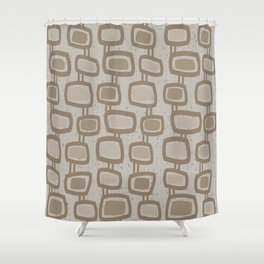Dangling Rectangles in Brown Shower Curtain