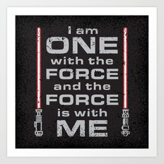 Force is with Me - Red&Black Art Print