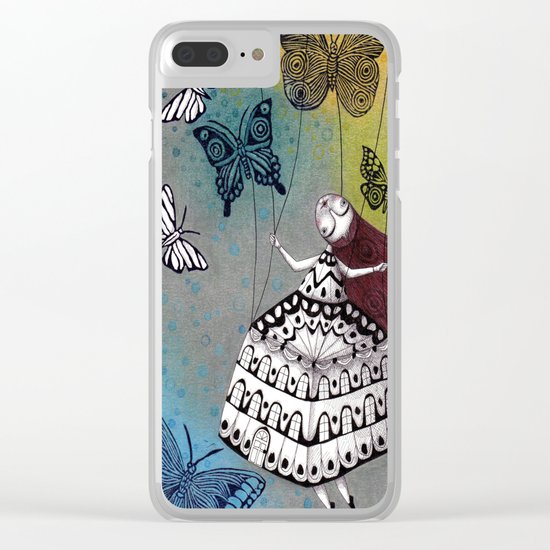 House of Butterflies Clear iPhone Case