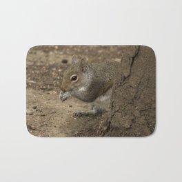 Woodland grey squirrel Bath Mat