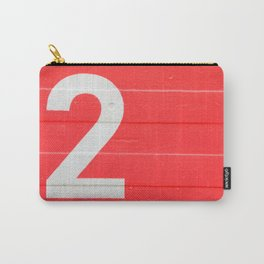 TWO on red Carry-All Pouch