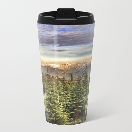 """Wildderness"". Adventure at the mountains... Metal Travel Mug"