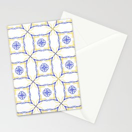 Azulejo Luso - Portuguese Tiles yellow Stationery Cards