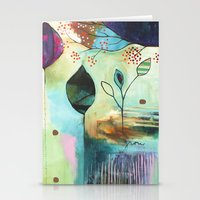 "flora bowley Stationery Cards featuring ""Abundance"" Original Painting by Flora Bowley  by Flora Bowley"