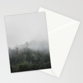 Fog in the Forest | Kaszuby Canada | Travel | Adventure | Landscape | Woods | By Magda Opoka Stationery Cards