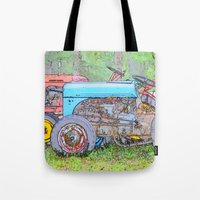 antique Tote Bags featuring Antique Buddies! by Alaskan Momma Bear