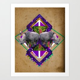 Rhinoceroses  Art Print