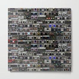 Boom Box Wall with BIG BASS SOUND Metal Print