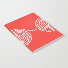 Yacht style. Rope spirals. Red. Notebook