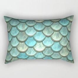 Serene Mermaid Scales Rectangular Pillow