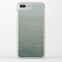 Foggy morning in NYC Clear iPhone Case