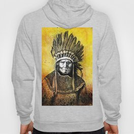 Warm Color Portrait of Geronimo in Headdress Hoody