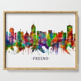 Fresno California Skyline Serving Tray