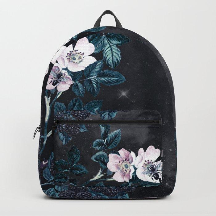 Night Garden Bees Wild Blackberry Backpack