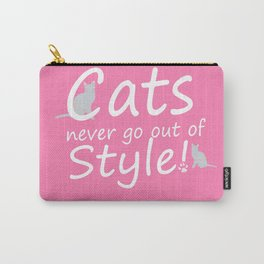 Cats Never go out of Style Carry-All Pouch