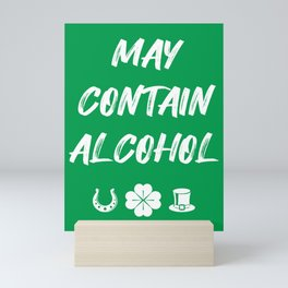 St. Patrick's Day - May Contain Alcohol II Mini Art Print
