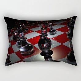 3D Chess Rectangular Pillow