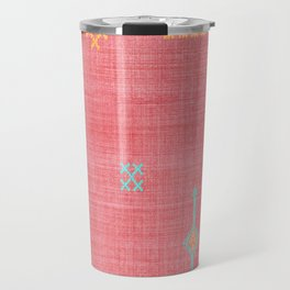Cactus Silk Pattern in Pink Travel Mug