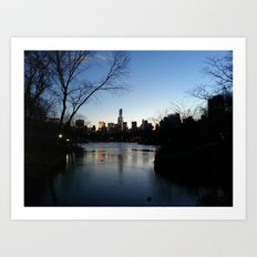 Dusk in the City Art Print