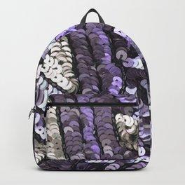 Lavender Silver Black Sequin Backpack
