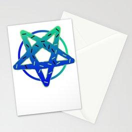 Gothic Donut pentagram Satan funny gift Stationery Cards