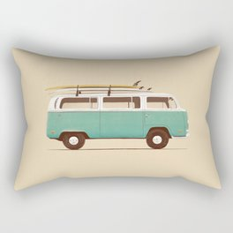 Van - Blue Rectangular Pillow