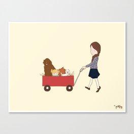 Hay Ride Home Canvas Print