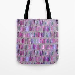 Messy Watercolor Stripes in Pink and Purple Tote Bag