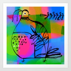 QUAIL COLORS Art Print