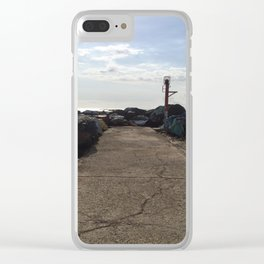 end of the road Clear iPhone Case