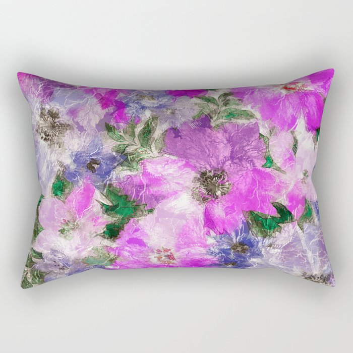 Splendid Flowers Rectangular Pillow