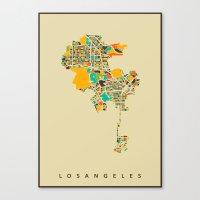 los angeles Canvas Prints featuring Los Angeles by Nicksman