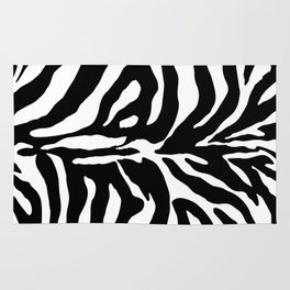 Black and white Zebra Stripes Design Rug