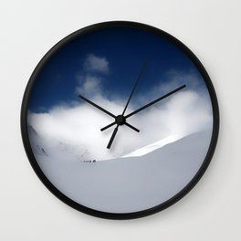 White Mountain Winter Wall Clock