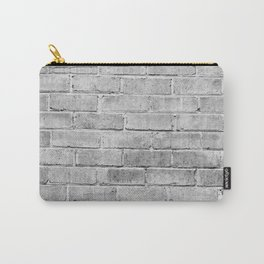 gray distressed painted brick wall ambient decor rustic brick effect Carry-All Pouch