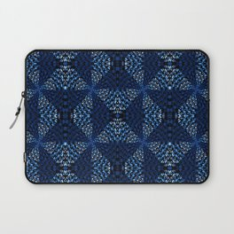 Indigo Blues Geometric Magic Quilt Print Laptop Sleeve