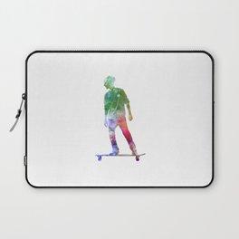 Man skateboard 08 in watercolor Laptop Sleeve